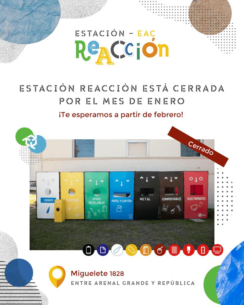 Estación ReAcción - Cerrada por el mes de enero. Te esperamos a partir de febrero.