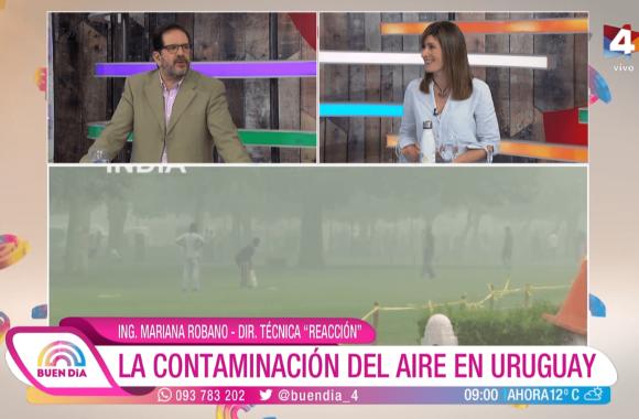 La contaminación del aire en Uruguay – Buen Día. Canal 4